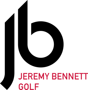Jeremy Bennett Golf logo - black and red