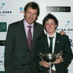 Sir Nick Faldo with Rory McIlroy – Faldo Series Winner